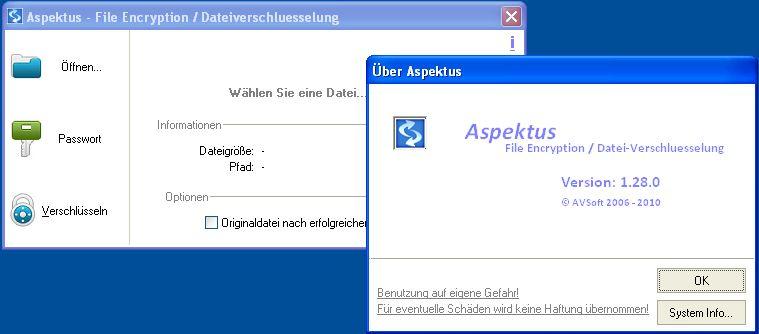 Vorschau Aspektus - File Encryption - Dateiverschluesselung - Bild 1