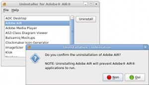 Vorschau Uninstaller for Adobe AIR - Bild 1