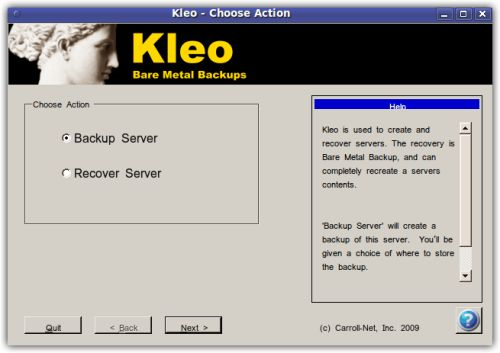 Vorschau Kleo Bare Metal Backup for Servers - Bild 1