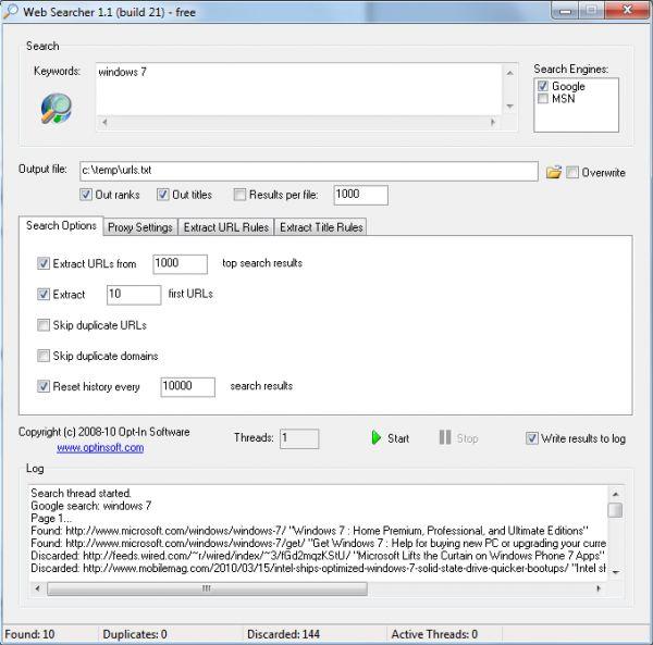 Vorschau Web Searcher - Bild 1