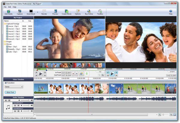Vorschau VideoPad Free Video-Editor - Bild 1