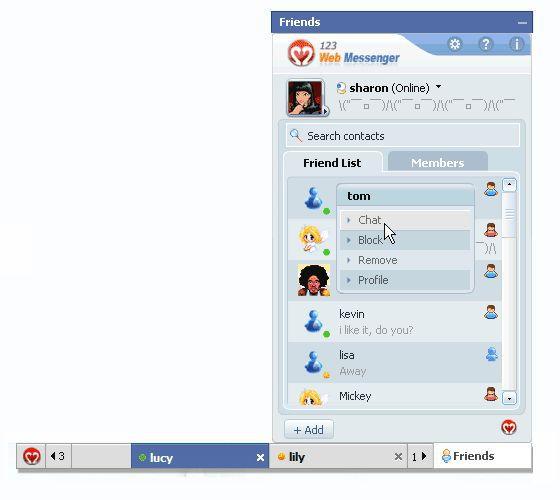 Vorschau Free DotNetNuke IM of 123 Web Messenger - Bild 1