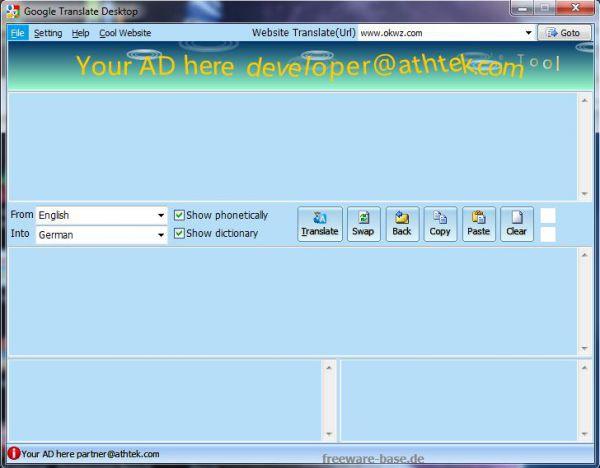 Vorschau Google Translate Desktop - Bild 1
