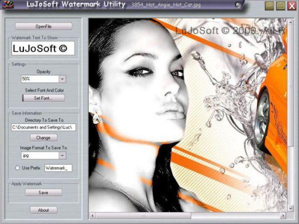 Vorschau LuJoSoft Watermark Utility - Bild 1