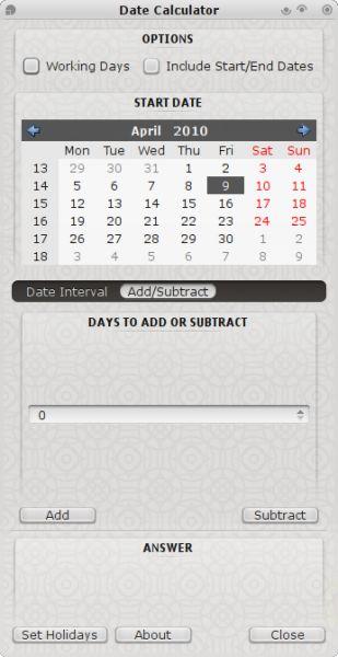 Vorschau Date Calculator - Bild 1