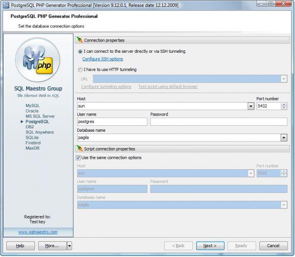 Vorschau PostgreSQL PHP Generator - Bild 1