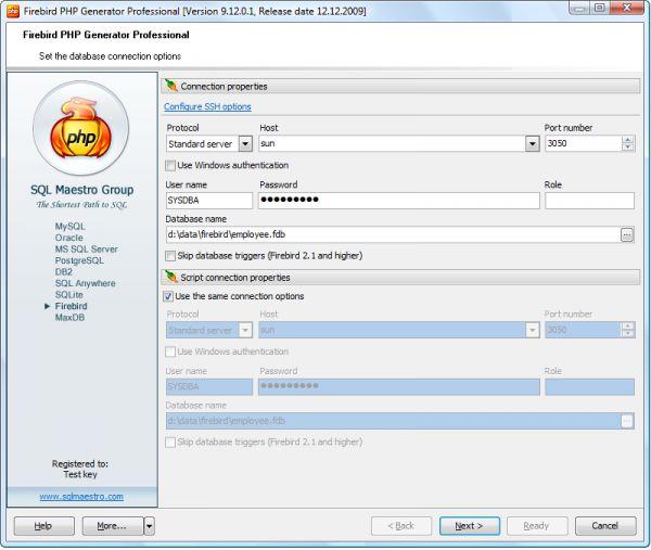 Vorschau Firebird PHP Generator - Bild 1