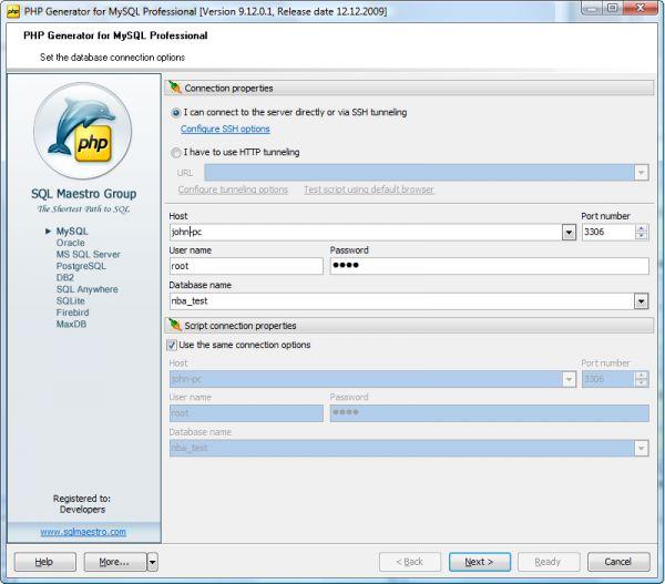 Vorschau MySQL PHP Generator - Bild 1