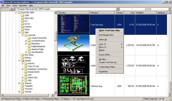 Vorschau AutoCAD Version Explorer - Bild 1