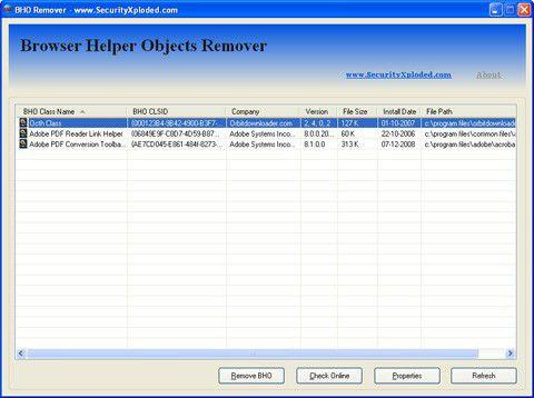 Vorschau Spy BHO Remover - Bild 1