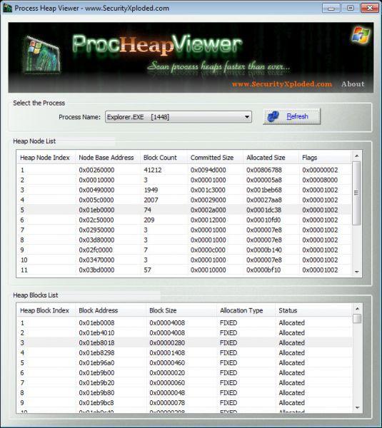 Vorschau Process Heap Viewer - Bild 1