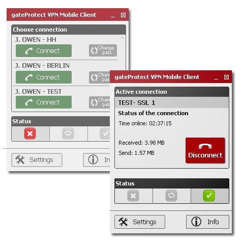 Vorschau gateProtect VPN Mobile - Bild 1