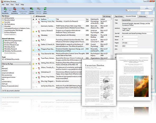 Vorschau Mendeley Desktop - Bild 1