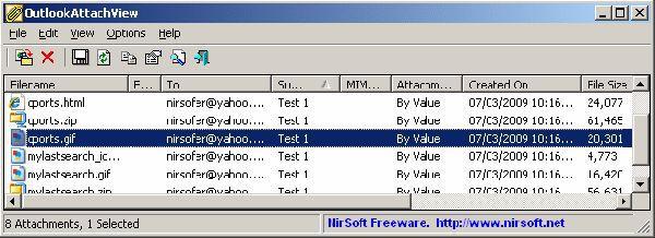 Vorschau OutlookAttachView - Bild 1