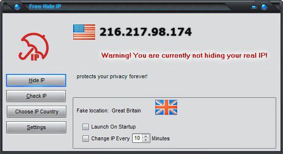 Vorschau Free Hide IP - Bild 1