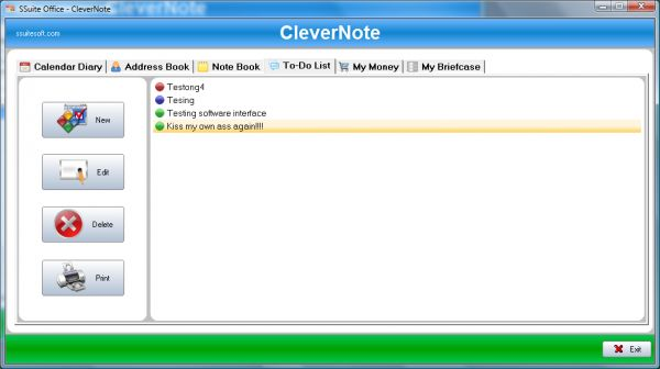 Vorschau SSuite Office - CleverNote PIM Portable - Bild 1