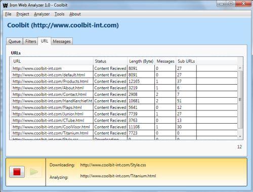 Vorschau Iron Web Analyzer - Bild 1