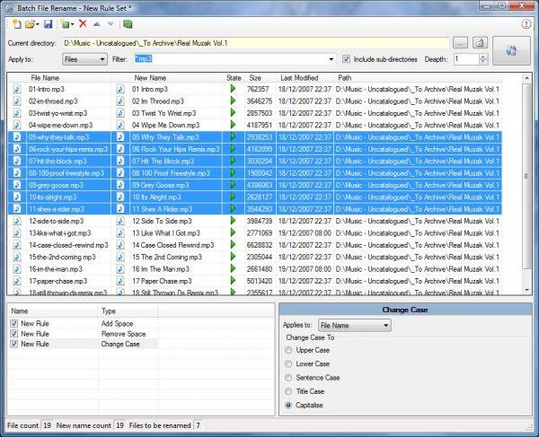 Vorschau Batch File Rename - Bild 1