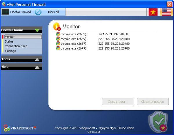 Vorschau vNet Personal Firewall - Bild 1