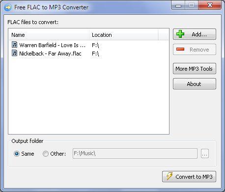 Vorschau Free FLAC to MP3 Converter - Bild 1