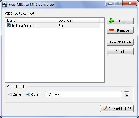 Vorschau Free MIDI to MP3 Converter - Bild 1