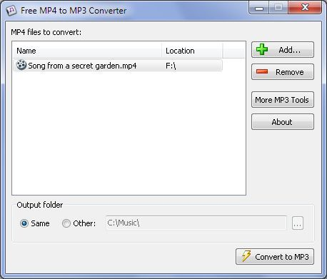 Vorschau Free MP4 to MP3 Converter - Bild 1