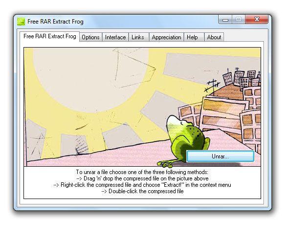 Vorschau Free RAR Extract Frog - Bild 1