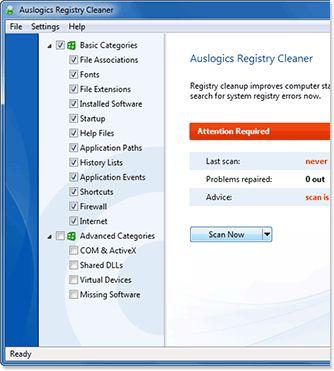 Vorschau Auslogics Registry Cleaner - Bild 1