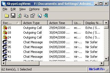 Vorschau SkypeLogView - Bild 1