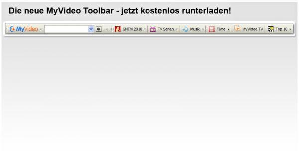 Vorschau MyVideo Toolbar für Internet Explorer - Bild 1