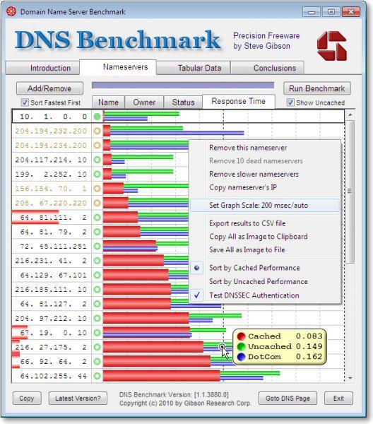 Vorschau DNS Benchmark - Bild 1