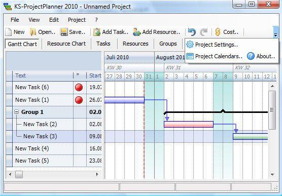 Vorschau KS Project Planner for Windows - Bild 1