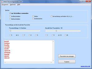 Vorschau Silben Passwortgenerator - Bild 1