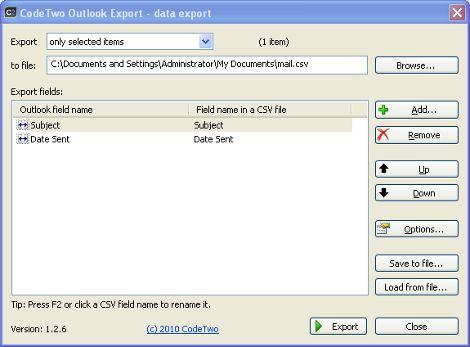 Vorschau CodeTwo Outlook Export - Bild 1