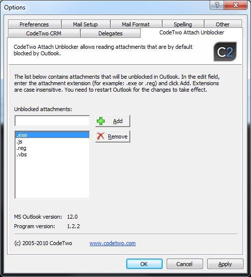Vorschau CodeTwo Attach Unblocker - Bild 1