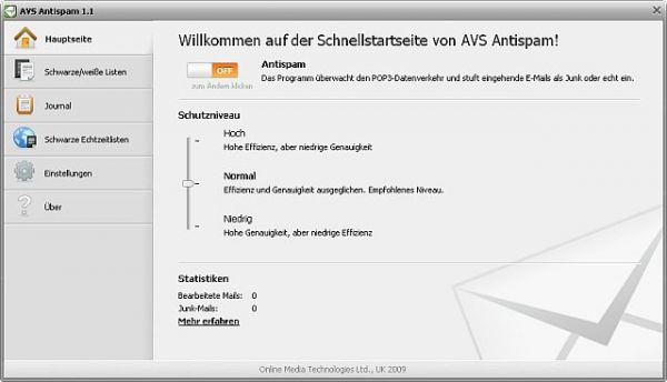 Vorschau AVS Antispam - Bild 1