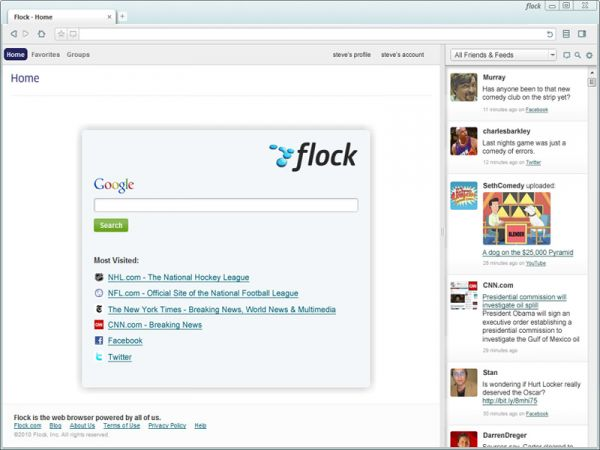 Vorschau Flock, The Social Web Browser - Bild 1