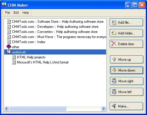 Vorschau Abee CHM Maker freeware - Bild 1