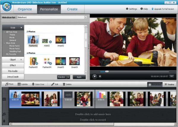 Vorschau Wondershare DVD Slideshow Builder Free - Bild 1