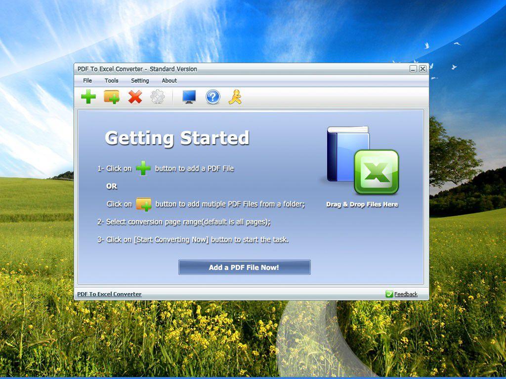 Vorschau PDF To Excel Converter - Bild 1