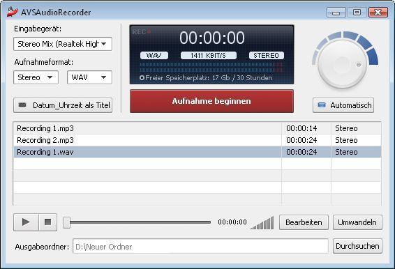 Vorschau AVS Audio Recorder - Bild 1