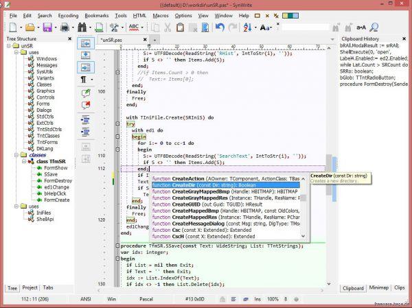 Vorschau SynWrite Editor - Bild 1