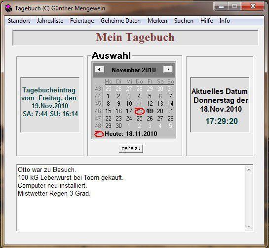Vorschau Tagebuch - Bild 1