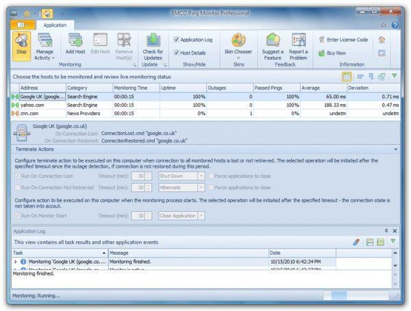 Vorschau EMCO Ping Monitor Free - Bild 1