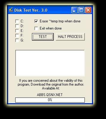 Vorschau Disk Test - Wipe - Bild 1