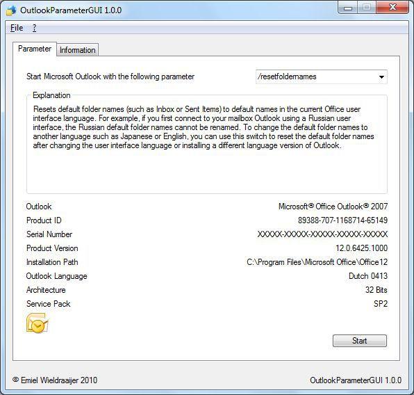 Vorschau OutlookParameterGUI - Bild 1