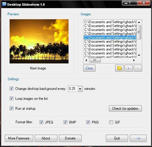Vorschau Desktop Slideshow - Bild 1