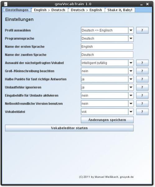 Vorschau gnuVocabTrain - Bild 1