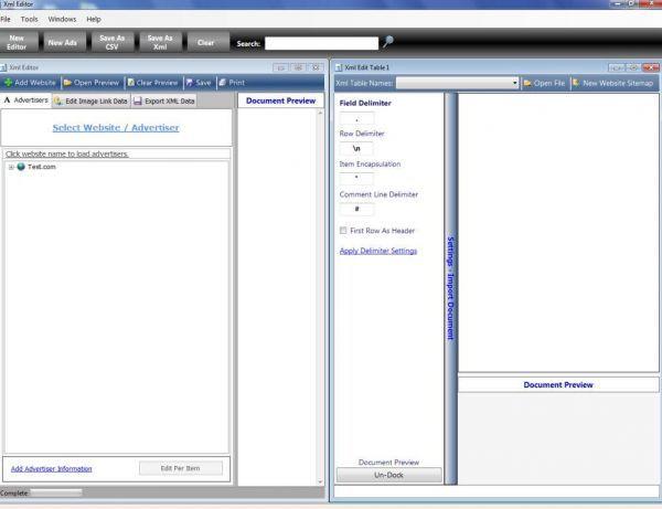 Vorschau XML Editor 2 - Bild 1