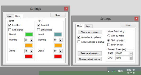 Vorschau RAM CPU Taskbar - Bild 1